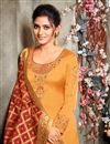 photo of Occasion Wear Mustard Color Embroidered Salwar Kameez