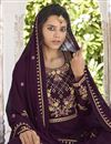 photo of Purple Color Function Wear Georgette Fabric Trendy Readymade Sharara Suit