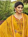photo of Cotton Silk Fabric Mustard Color Function Wear Palazzo Salwar Kameez