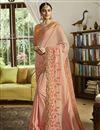 image of Peach Color Art Silk Fabric Festive Wear Saree