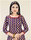 photo of Banarasi Silk Casual Wear Navy Blue Color Fancy Weaving Work Salwar Suit