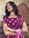 photo of Office Wear Chiffon Fabric Printed Saree In Pink Color