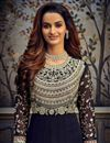 photo of Function Wear Navy Blue Color Georgette Fabric Embroidered Floor Length Anarkali Suit