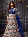 image of Function Wear Embroidered Long Length Off White Color Anarkali Dress In Net Fabric