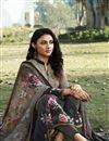 photo of Dark Beige Color Crepe Fabric Printed Daily Wear Fancy Salwar Kameez