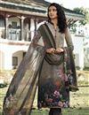 image of Dark Beige Color Crepe Fabric Printed Daily Wear Fancy Salwar Kameez