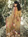 photo of Crepe Fabric Printed Daily Wear Fancy Salwar Kameez In Cream Color