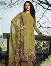 image of Crepe Fabric Printed Daily Wear Fancy Salwar Kameez
