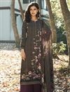 image of Crepe Fabric Wine Color Printed Casual Wear Trendy Salwar Suit