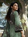 photo of Printed Sea Green Color Crepe Fabric Office Wear Salwar Kameez