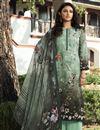 image of Printed Sea Green Color Crepe Fabric Office Wear Salwar Kameez