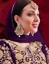 photo of Purple Color Georgette Fabric Sangeet Wear Designer Anarkali Salwar Kameez