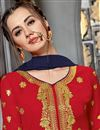 photo of Function Wear Georgette Fabric Red Sharara Suit With Embroidery