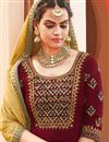 photo of Georgette Designer Maroon Color Festive Wear Fancy Palazzo Dress With Embroidery