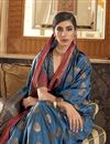 photo of Navy Blue Color Party Style Chic Art Silk Weaving Work Saree