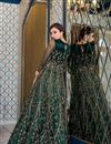 photo of Function Wear Embroidered Teal Color Anarkali Dress In Net Fabric