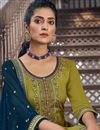 photo of Green Color Chic Embroidered Patiala Dress