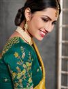 photo of Light Teal Color Art Silk Fabric Occasion Wear Lehenga Choli With Embroidery Work