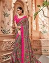 image of Art silk Dark Beige Color Wedding Wear Saree With Embroidery Work And Gorgeous Blouse