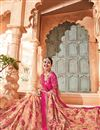 photo of Salmon Art silk Embroidered Designer Saree With Designer Blouse
