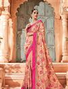 image of Salmon Art silk Embroidered Designer Saree With Designer Blouse