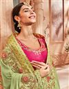 photo of Emboirdery Work On Art silk Sea Green Party Wear Saree With Amazing Blouse