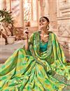 photo of Art silk Sea Green Color Wedding Wear Saree With Work And Gorgeous Blouse