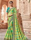 image of Art silk Sea Green Color Wedding Wear Saree With Work And Gorgeous Blouse