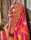 photo of Embroidery Work On Reception Wear Saree In Rani Art silk Fabric With Charming Blouse