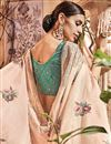 photo of Embroidery Work On Chikoo Art Silk Designer Saree With Alluring Blouse