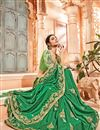photo of Embroidery Work On Dark Green Party Wear Saree In Art Silk Fabric With Ravishing Blouse