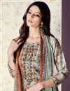 photo of Casual Style Printed Palazzo Dress With Work In Art Silk