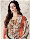 photo of Dark Beige Casual Printed Palazzo Dress With Work In Art Silk