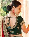 photo of Red Color Reception Wear Fancy Art Silk Fabric Border Work Saree