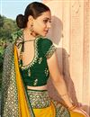 photo of Party Wear Art Silk Fabric Fancy Border Work Saree In Yellow Color