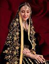 photo of Black Color Georgette Fabric Sangeet Wear Embroidered Anarkali Salwar Kameez
