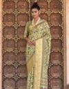 image of Beige Color Sangeet Wear Art Silk Fabric Printed Saree