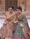 photo of Green Color Art Silk Fabric Printed Reception Wear Saree