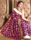 photo of Purple Traditional Jacquard Work Fancy Saree In Art Silk