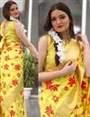 photo of Festive Special Yellow Art Silk Jacquard Work Traditional Fancy Saree