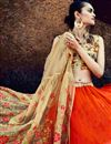 photo of Orange Wedding Function Wear Sharara Top Lehenga Choli in Georgette