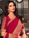 photo of Tamanna Bhatia Rani Color Function Wear Art Silk Fabric Border Work Saree