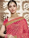 photo of Tamannaah Bhatia Art Silk Function Wear Designer Lace Border Saree In Beige