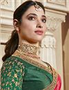 photo of Tamannaah Bhatia Art Silk Function Wear Designer Lace Border Saree In Pink