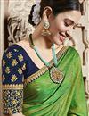 photo of Tamannaah Bhatia Function Wear Designer Green Lace Border Art Silk Saree