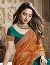 photo of Tamannaah Bhatia Teal Function Wear Designer Lace Border Art Silk Saree