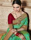 photo of Tamannaah Bhatia Art Silk Function Wear Designer Lace Border Work Saree In Green