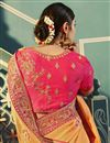 photo of Peach Color Silk Fabric Function Wear Saree