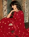 photo of Chitrangada Singh Printed Daily Wear Saree In Georgette Fabric Red Color