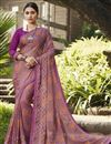 image of Brasso Fabric Fancy Festive Wear Pink Color Printed Saree